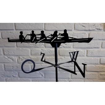 Windwijzer roeiboot  incl. windroos, staaf en montagesteun